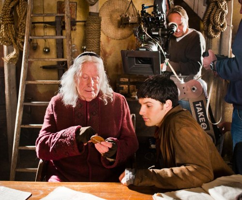 curluvd:  New behind the scene from Merlin Season 5!!! Pic Credit:  Merlin Official