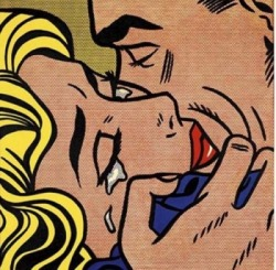 theartgeeks:  Kiss ~ Roy Lichtenstein