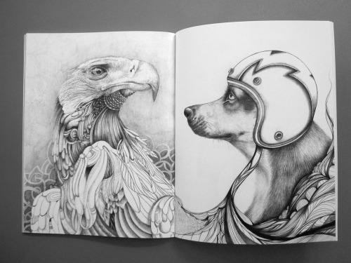 Recently published in the latest Graphite #2 at Woostercollective.com (left) Joe Pimentel and artist Tina Darling (right) Graphite book walkthrough video: http://www.youtube.com/watch?v=Fa34YKKhio4&feature=player_embedded