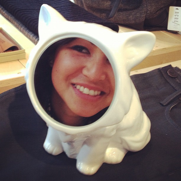If I was born as a porcelain cat. #amazing #catlady (Taken with Instagram at ACRE/SF)