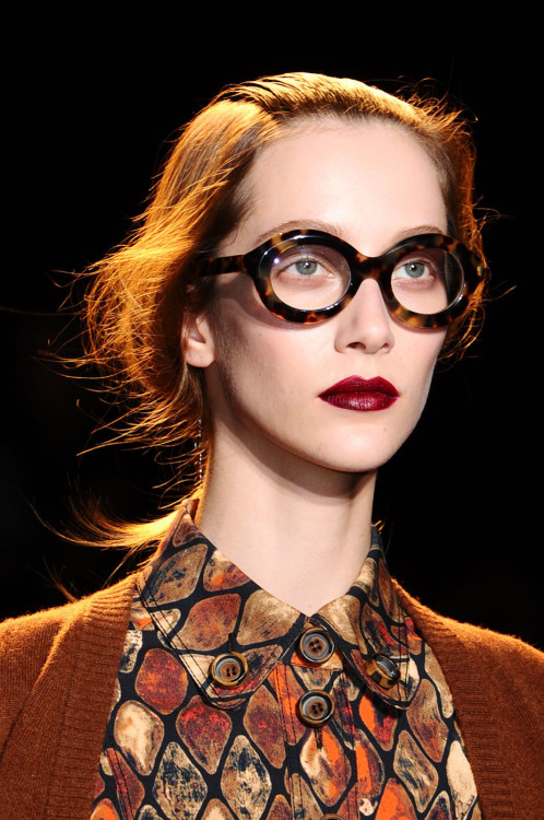 An august autumn beauty look from Rochas' Fall 2012 show.