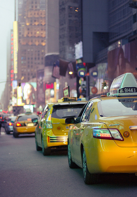 NYC Cabs. Manhattan, New York in May 2012.