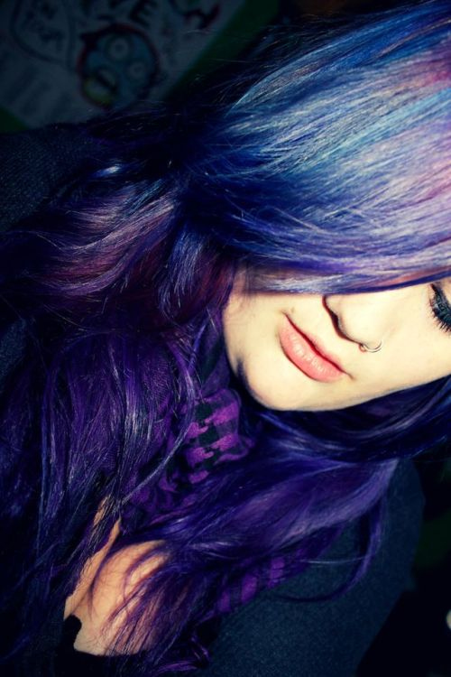 """I loved having my hair orange and red, but I really missed my purple. So, I decided to throw in some blue, too! :) One of my friends has aptly named the shade 'Doctor Who Vortex'. :P"" Haha, love the name. Great color too! Thanks for sharing it :)"
