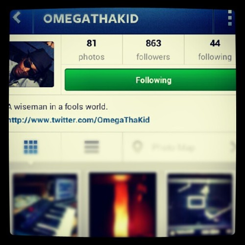 Follow my artist/guitarist @omegathakid !!!  (Taken with Instagram)