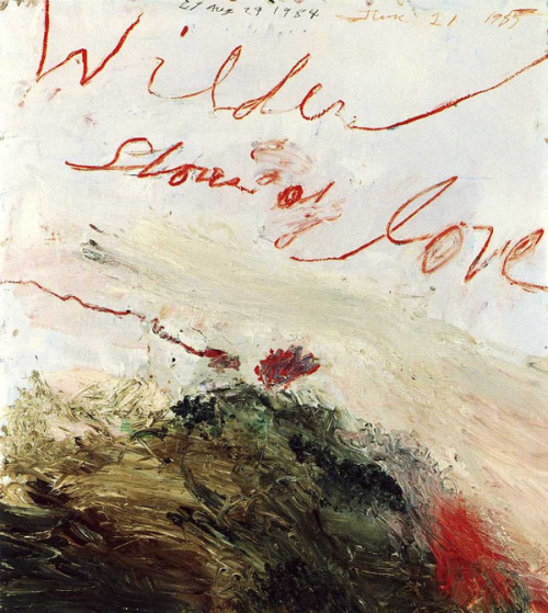 beckylucyfoster:  cy twombly - wilder shores of love
