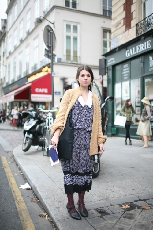 calivintage:  street style by WWD.com.  ugh that's Paris, isn't it. I mean, that's definitely somewhere in France