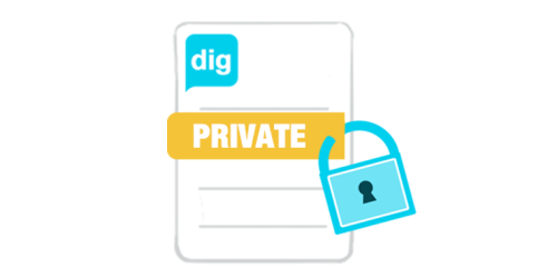 Keep your brand values private and use digmybrand as an easy feedback tool. Why share everything with the whole world?