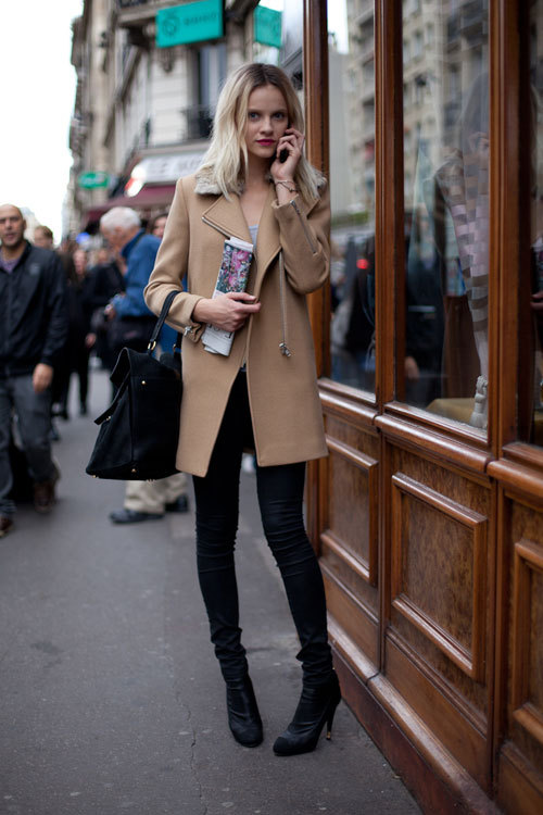 models-on-streets:  Ginta Lapina on PFW .