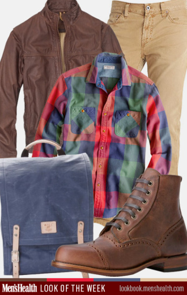 Kick up your outfits with color this fall. Jacket: Timberland Pants: J BrandShirt: J. Crew Bag: Will Leather GoodsBoots: The Frye Company