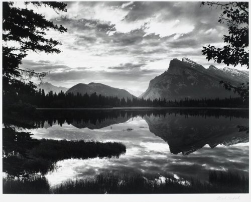 Dawn Over Mount Rundle and the Vermilion Lakes, Banff, Canada, 1951 photo by Frederick B. Scheel