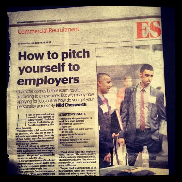 #eveningstandard #me #paper #newspaper #article #gradfair #graduate #recruitment # (Taken with Instagram)