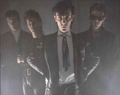 "Oh my very goodness I was thinking about this photo of Bauhaus just the other day  ""Self,"" I said, ""self, do you remember that time we realized that Daniel Ash's Area rivals that of Our Lord Bowie?""  Well now we can all remember"