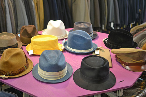 Dapper hats in our Men's Vintage department!