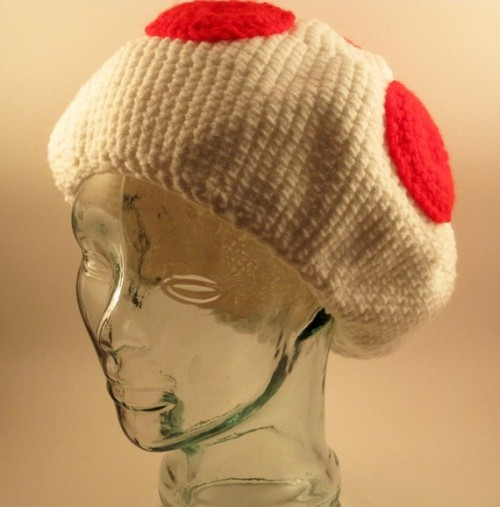 (via Toad Mushroom Hat MADE TO ORDER by ShadowsInTheNyte on Etsy)