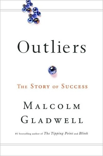 OutliersMalcolm Gladwell I finally got around to reading Outliers, and it was at least as good as the hype says it is. Gladwell draws from anecdotes and statistics to make the claim that people are less responsible for their own success than the unique opportunities they accessed over the course of their lives. Examples include Bill Gates, who had unlimited access to a computer where he could tinker and program in the sixties(!), and The Beatles, who played Hamburg for eight (sometimes more than ten!) hours a day for hundreds of days before going big. Also, Outliers is where the famed 10,000 hours theory comes from, and it is powerful. Simply put, it's the idea that it takes 10,000 hours of diligent practice — that is, doing something with the single focus of getting better — to master it. That is what separates the good from the great, and the great from the legends.  The message that Gladwell reiterates over and over again throughout the book is that we need to acknowledge our roots — our culture, our family, our childhood environment, etc. — to discover what unique opportunities successful people had access to. And then we need to look at our own lives and identify what unique opportunities we have access to, and leverage that shit.