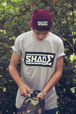 shadelondon:  SHADE London Contrast Logo Tshirt - Heather Grey
