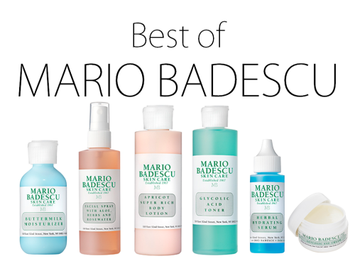 Mario Badescu was introduced to me when I started working as a makeup artist. The boutique where I worked had the entire line, and after a few samples I was completely addicted. One great thing about MB products are their reasonable prices, which remain low because they keep the packaging so simple. Martha Stewart, Jennifer Anniston, Gwyneth Paltrow, and Sharon Stone have all raved about this line. I adore so many of their products, but here are my absolute favorites. Buttermilk Moisturizer: If you have acne-prone, sensitive, combination skin THIS is the daily moisturizer for you. Ingredients like lactic acid, carnation oil, and allatonin make this feel like a luxurious cream, without the pimple-causing effects. I have been using this every day for the last 5 years, and I swear by it. Rosewater Facial Spray: Some nights after washing my face, my skin is tight and needing moisture. Aloe, rosewater, and herbs are combined in this sweet smelling mist to rehydrate the skin. Now you won't need to worry about having a sticky face stain your pillowcase!  Apricot Super Rich Body Lotion: Let me just tell you that this body lotion smells unbelievably good— fresh, clean, and simple. Super Rich it is. The texture is super creamy and thick, and it soaks into the skin for the ultimate hydration. Glycolic Acid Toner: Combined with grapefruit, glycolic acid works to gently slough away dead skin cells that build up over time. If your makeup looks dull, it's highly likely that your skin is in need of exfoliation, and this product does exactly that without any rough scrubbing particles. Herbal Hydrating Serum: I love this product because it can be used in a few different ways. If you have oily skin, this could be used alone as a light moisturizer. If your skin is dry, or dry now because of the changing seasons, layer this under your regular moisturizer for additional benefits. If you just want to have a super-hydrating mask, you apply 2-3 layers of this, leave it on for an hour before your shower, and your skin will feel lovely! Glycolic Eye Cream: For anyone with premature signs of aging and fine lines, this eye cream is bound to soften and hydrate your skin. Keep this in the refrigerator for a soothing treat before bed. The Vitamin E smooths, while the glycolic acid removes dead skin cells from the surface layer, to repair the tissue-like skin around the eyes. Believe me, your concealer will look even better when your under eyes are hydrated!
