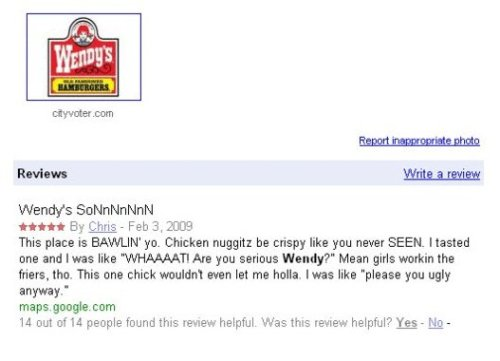 collegehumor:  Best Restaurant Review Ever