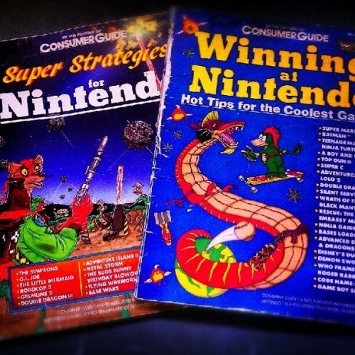 Found some old guides. #Nintendo #Scholastics #vidwogames #game #NES #dragon #ferret #space #fight (Taken with Instagram)