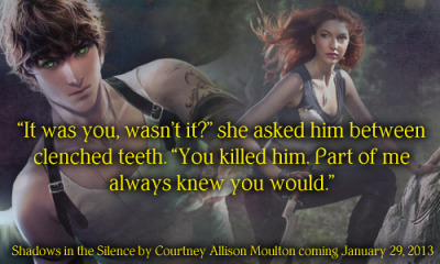Excerpt from Shadows in the Silence by Courtney Allison Moulton (coming 1.29.2013)