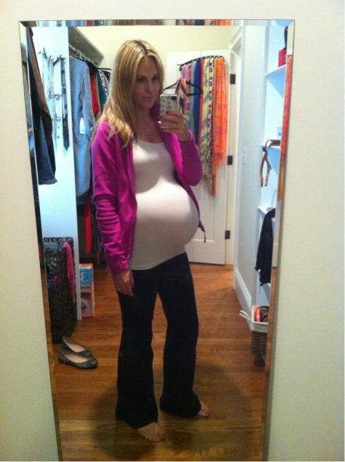 sexy girl pregnant yoga pants