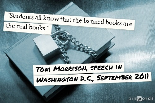 Banned Books Week 2012 Nobel laureate Toni Morrison is the author of three of the most frequently challenged books of the last twenty years: Beloved The Bluest Eye Song of Solomon