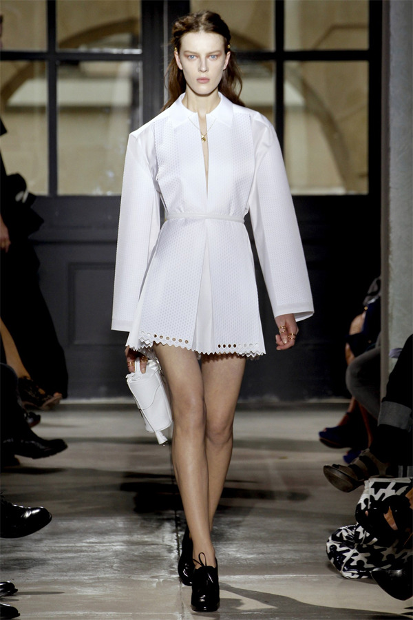 My fav look from Balenciaga Spring 2013 because it looks like it's made of paper