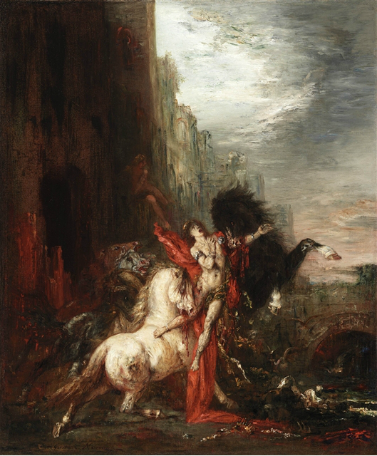 "Also saw this painting.  Gustave Moreau - ""Diomedes Devoured by His Horses, 1865-70 Oil on canvas"