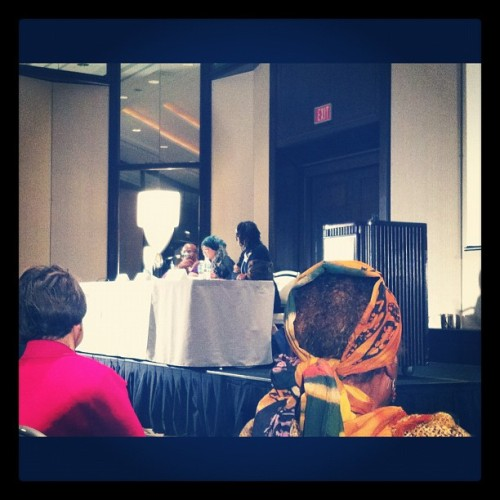 Bernice Johnson Reagon & Sonia Sanchez #asalh #herstory #genius #tearsofjoy (Taken with Instagram)