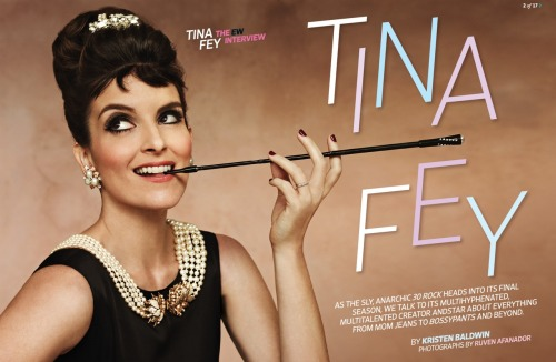 I just died a little…Tina Fey w/ an Audrey Hepburn spin? Yes please. radiationdude:  Tina Fey - Entertainment Weekly (credit! source!)