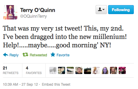 Terry O'Quinn is now on Twitter. Henry Ian Cusick will be joining The Mentalist for a 3-episode arc where he'll play Tommy Volker, a rich thrill-seeker possibly tied to a TV reporter's murder. Carlton Cuse is bringing old friend Nestor Carbonell along to Bates Motel.
