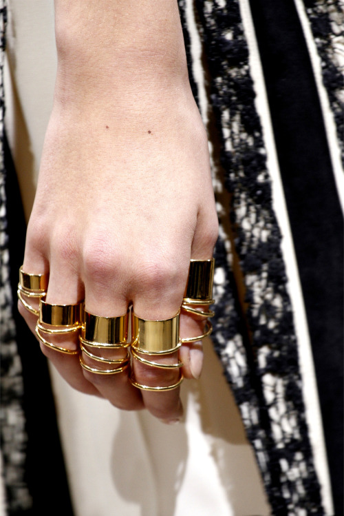Jewelry Detail @ Balenciaga - Spring/Summer 2013