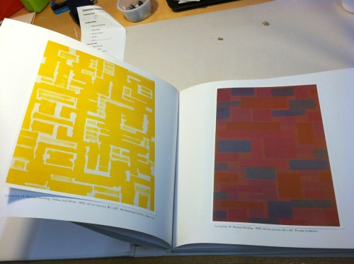 Repairing a gently loved Ad Reinhardt book written by Lucy R. Lippard, one of the keynote speakers at the NY Art Book Fair this weekend! -vw