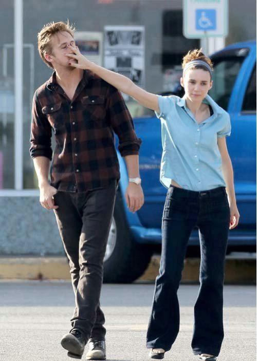 suicideblonde:  Rooney Mara and Ryan Gosling on the set of the untitled Terrence Malick film in Austin, September 25th