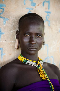 yagazieemezi:  A Surma woman in the Omo Valley, Ethiopia