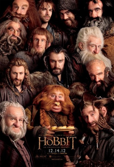 May I PLEASE see a complete in-canon cosplay of this HOBBIT poster at the New York Comic con!! There's plenty of time, right? What is it, 12 days from now til the 'Con? Sure. Why not. thedailywhat:  The Hobbit Movie Poster of the Day: And here's the trailer, in case you missed it. In theaters December 14. [iwatchstuff]  #The Hobbit #I tagged Every Single Bleeding Dwarf Because Reasons! Update: By the way, some of the 3.75 inch action figures for THE HOBBIT are now available via pre-order on AMAZON.  THE HOBBIT: AN UNEXPECTED JOURNEY action figures will be available October 2012.  There was also a San Diego Comic-Con show exclusive Invisible Bilbo Baggins action figure, which I covet heavily. Myyy PRECIOUSSS!!! The movie is slated for theatrical release December 14, 2012.