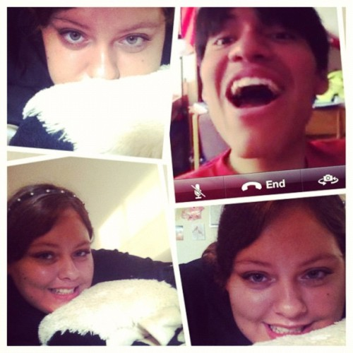 #picstitch FaceTime with my masa! #masa #cute  (Taken with Instagram)