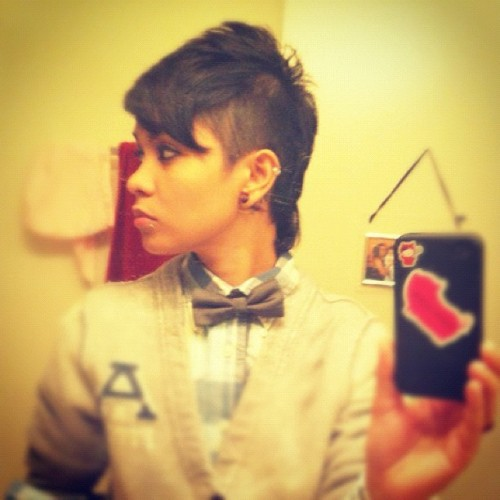 Missing my fauxhawk #tbt #lgbt #lesbian #lesbians #dyke #stemme  (Taken with Instagram)