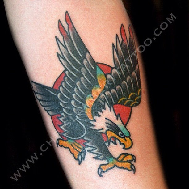 Chris Lambert Tattoo, Did this small #eagle #tattoo on Mattheaw today ...