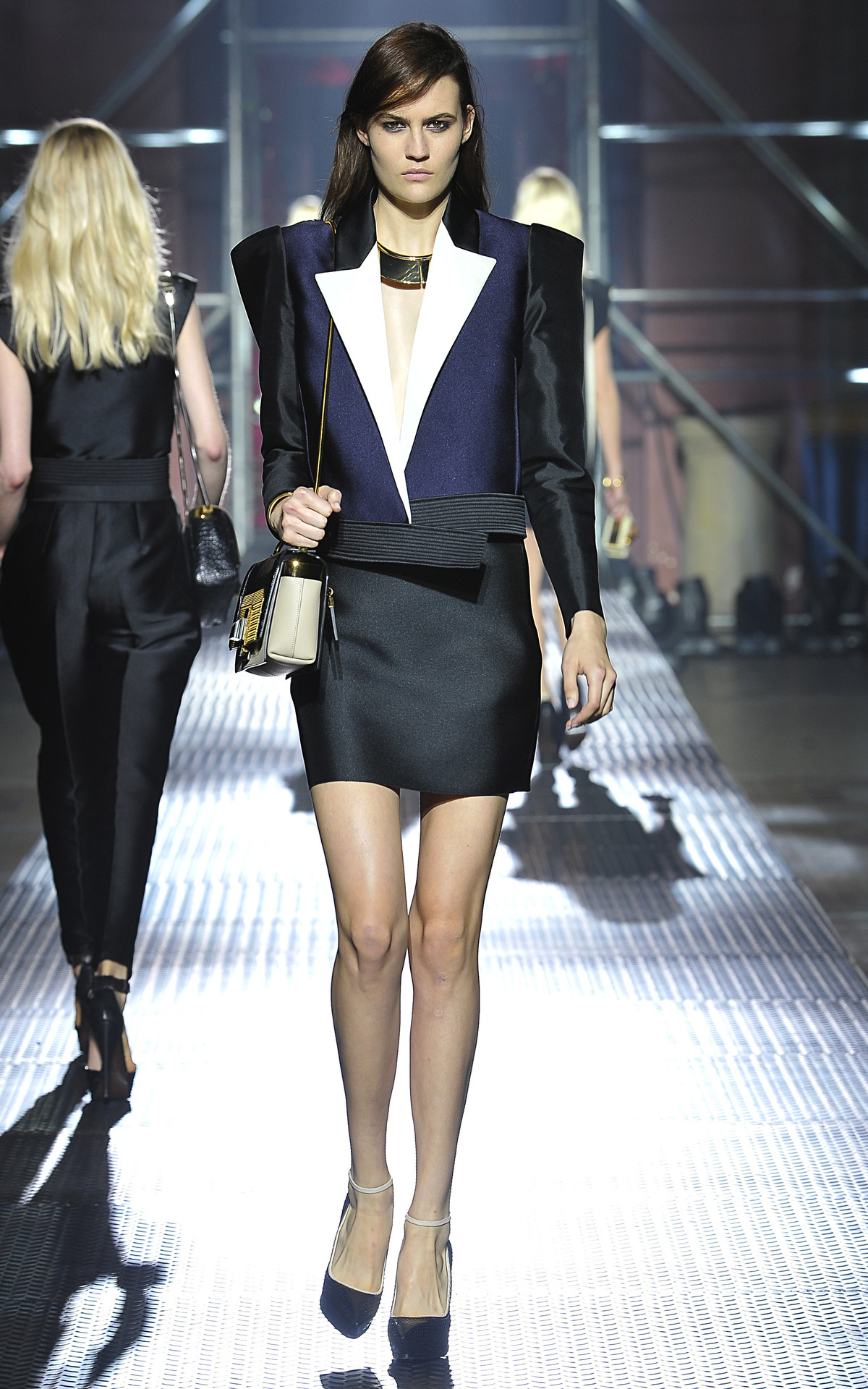 Photo by firstVIEW Power suit a la Alber Lanvin Spring 2013, Paris.