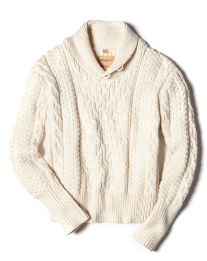 GQ Selects: Levis Cable-Knot Shawl-Collar Sweater