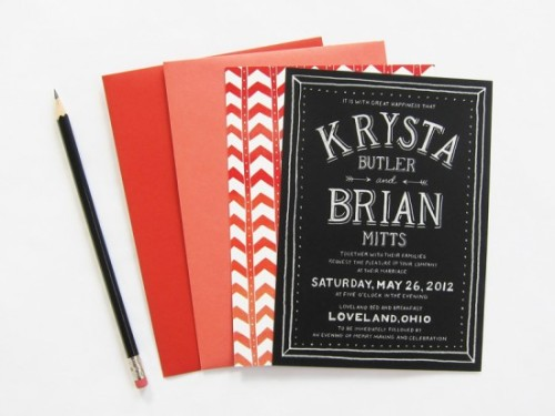 Loving this wedding invitation set!