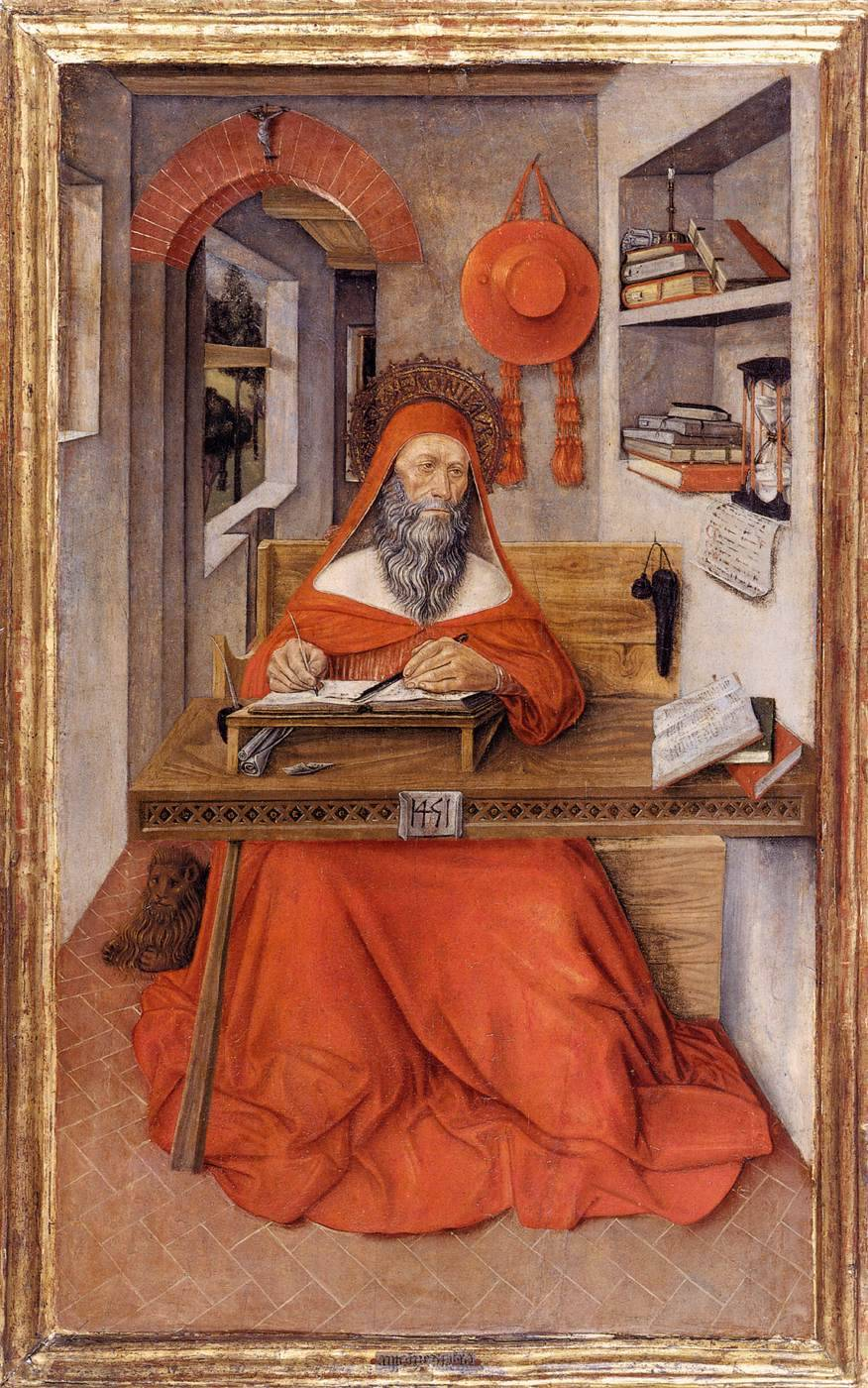 ANTONIO DA FABRIANO [Italian Early Renaissance, known 1451-1486] St Jerome in His Study1451Tempera on wood, 88 x 52 cmWalters Art Museum, Baltimore