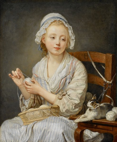 "a-l-ancien-regime:  Jean-Baptiste Greuze (1725-1805) ""The Wood Winder"", Painted probably in 1759 Oil on canvas The Frick Collection"