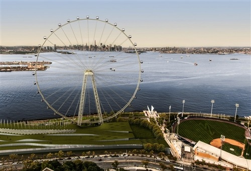 "nbcnews:  NYC to get 'world's largest' Ferris wheel (Photo: AP Photo/Office of the Mayor of New York) The Big Apple is getting another ""biggest"": The world's biggest Ferris wheel is to be built on Staten Island, in an ambitious attempt to draw tourists to what's sometimes known as the city's ""forgotten borough,"" officials announced Thursday. Read the complete story.   London has one; Tokyo has one; Japan has one. Now, an outer borough is getting one."