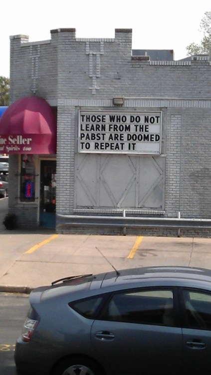 peterpayne:  Genius liquor store sign.