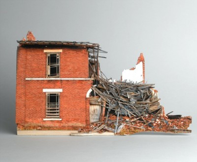 laughingsquid:  Broken Houses, Scale Models of Decaying Buildings by Ofra Lapid  Love these models. reminds me so much oh the way i use to see neighborhoods and old farmland in stl and surrounding areas as a kid. i never found them sinister but more of a calm coming of age and being at one with the elements