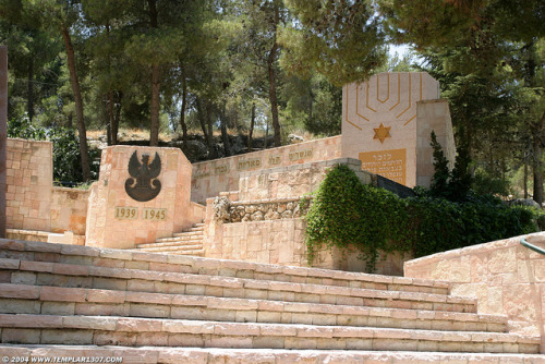 WWII Jewish Brigade Memorial - Mount Herzl Cemetery on Flickr. Mount Herzl, Har HaZikaron, Jerusalem, Israel07 July 2004 [ref: IL04-2708]