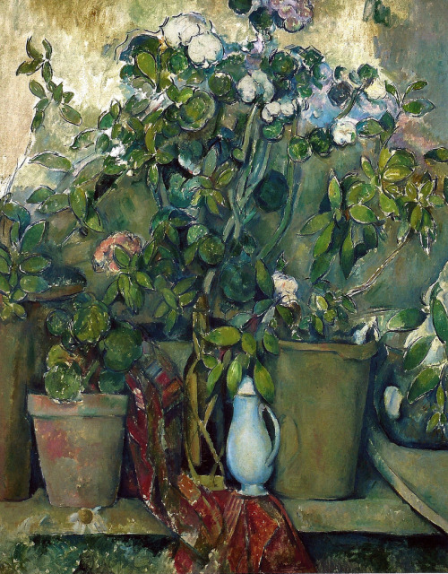alongtimealone:  Paul Cézanne - Potted Plants, 1890 at the Barnes Foundation Philadelphia PA (by mbell1975)
