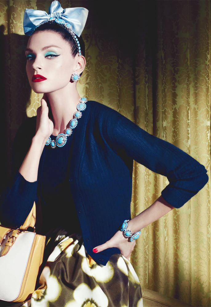 Jessica Stam/Miu Miu Resort 2013  oh my god
